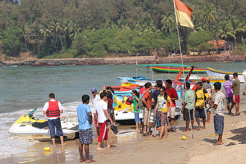 Watersports I didn't know existed at Baga Beach Goa