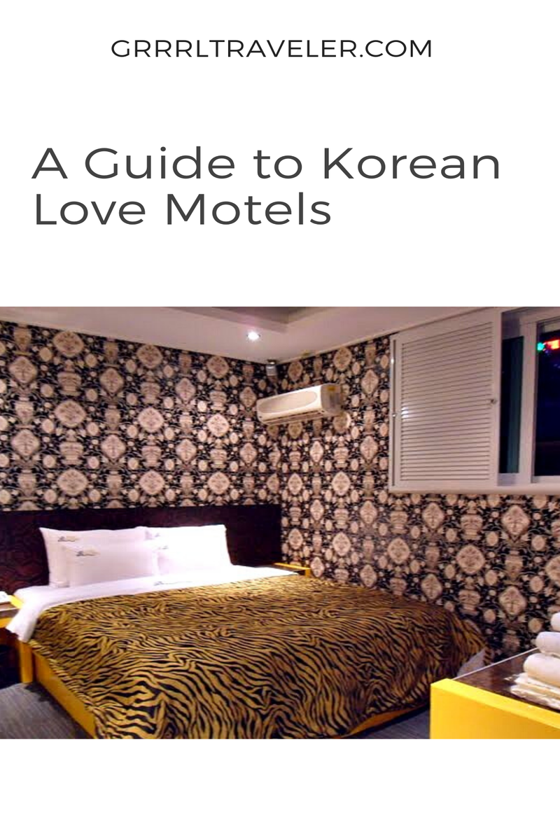 A guide to korean love motels