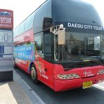 The Daegu city bus tour bus starts at Dongdaegu station