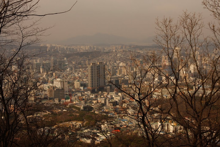 seoul city, namsan seoul tower view