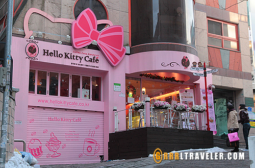 hello kitty cafe seoul, hello kitty cafe asia locations, hello kitty seoul korea
