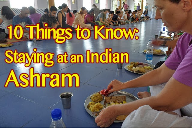 staying at an indian ashram, eating with your fingers in india