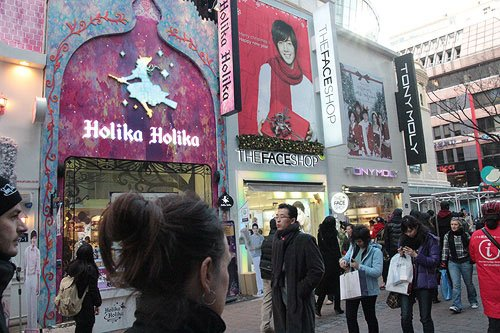 korean face stores myeongdong