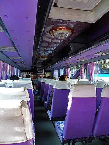 vip-thai bus, thai bus to sukhothai, sukhothai bus station, thai bus types