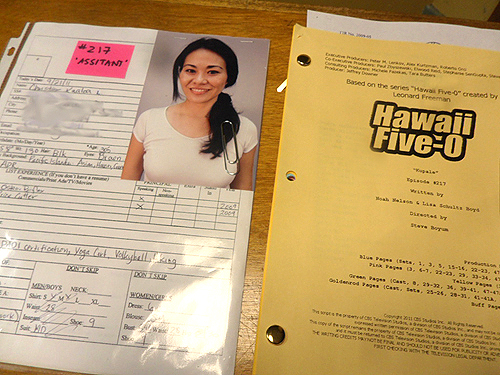 booking a role on tv, booking a role on Hawaii Five O