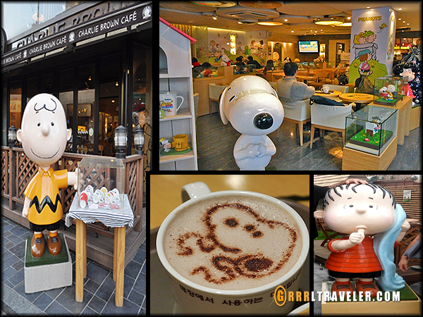 Charlie Brown cafe Hongdae, theme cafes in seoul korea