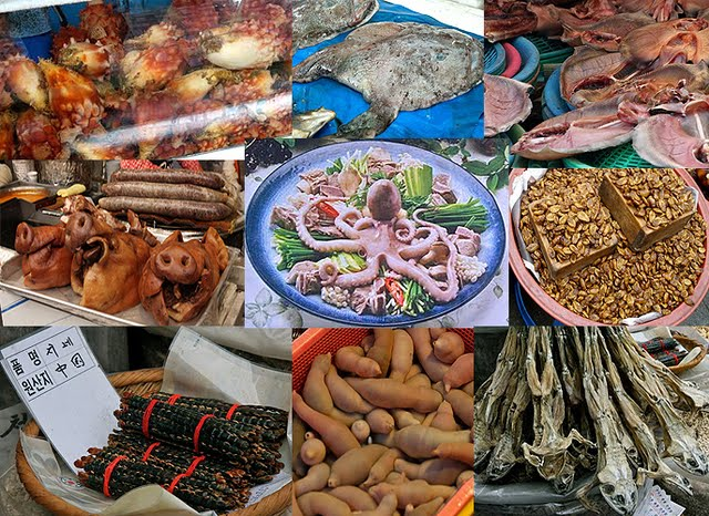 strange bizarre asian foods, korean fear factor foods