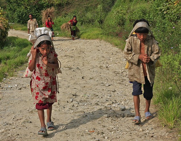 children workers in Nepal