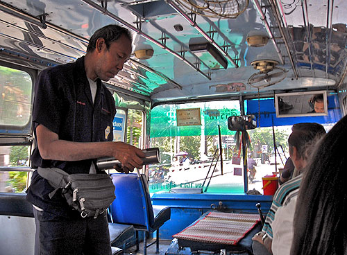 thai bus ticket taker