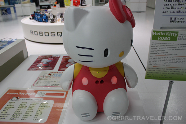 hello kitty talks, hello kitty japan robot