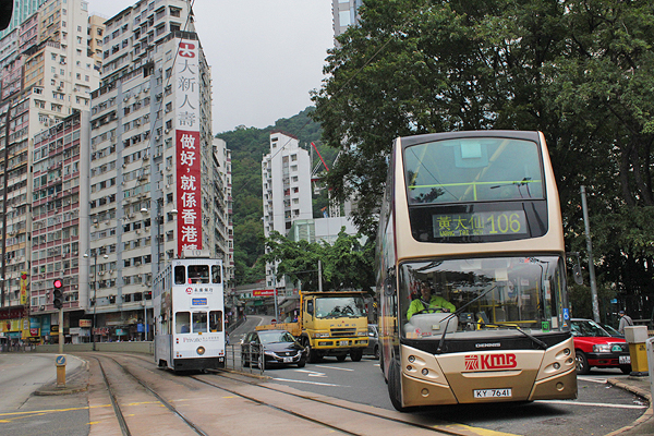 Double decker buses are a fun way to see Hong Kong penninsula