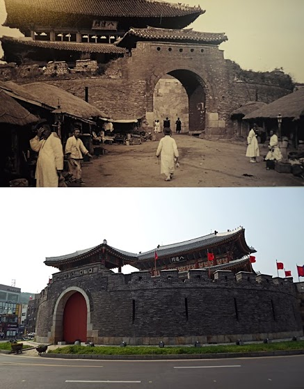 suwon fortress historical photos, suwon hwaseong fortress korea, joseon dynasty
