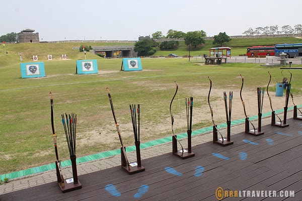 suwon archery, archery in korea, joseon warrior, suwon attractions