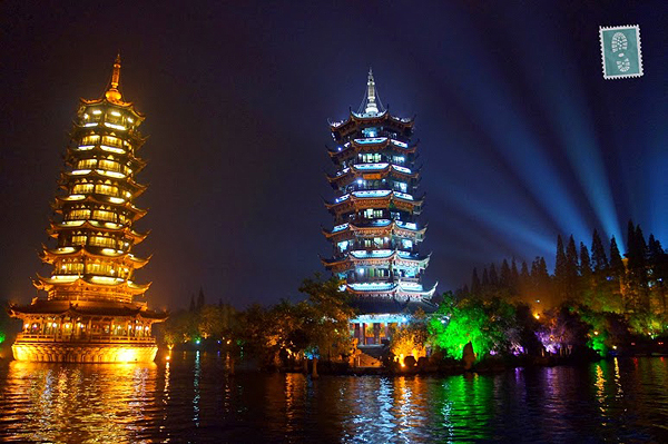 guillin at night china, 5 top places to visit in China
