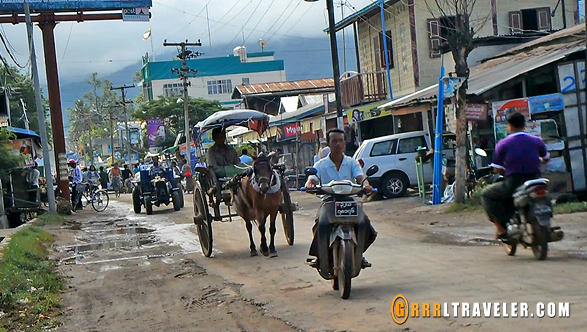 nyeung shwe road, transportation in myanmar