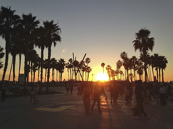 Venice Beach at Sunset, World's best boardwalks, best boardwalks in the world.