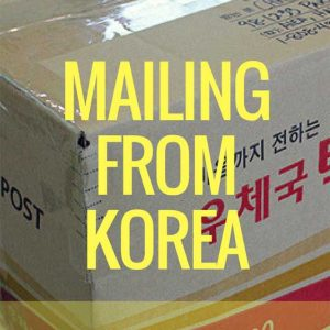 Shipping from Korea, mailing from korea, korean post, how to mail things home from korea,