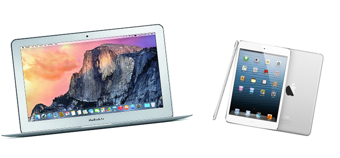 Macbook Air 11 inch vs ipad, Macbook Air 11 inch, ipad