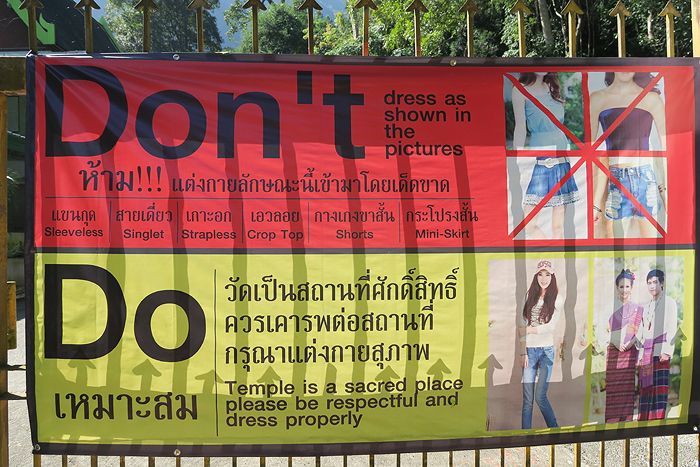 temple dress code thailand