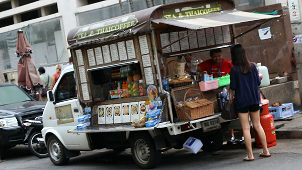 Thai food hawker, Thai street food