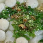 Fish ball soup in bangkok, thai fish ball soup, thai noodle souops