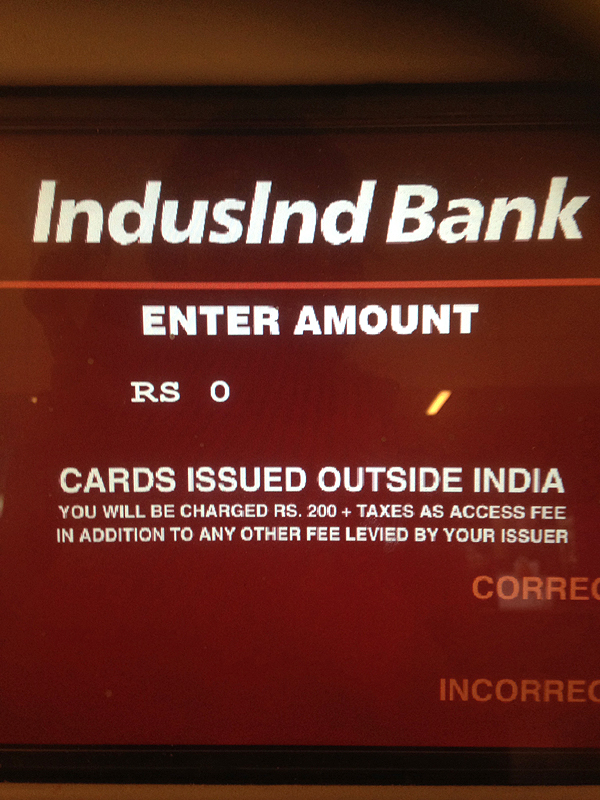 india atm fees, atm fees in india, travel tips for india, india travel tips, travel essentials for india