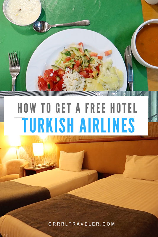 HOW TO GET A FREE HOTEL TURKISH AIRLINES