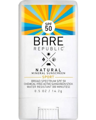 bare republic natural mineral sunscreen stick