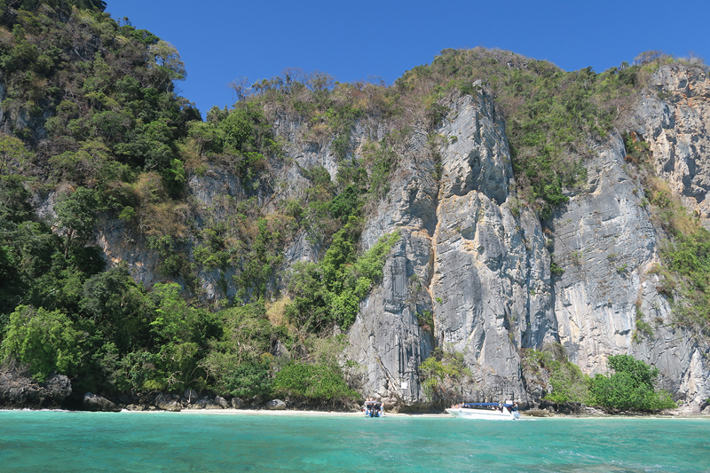 monkey beach, phi phi islands