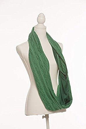 SHOLDIT Infinity Clutch Wrap Purse Scarf (Rough Pearl)