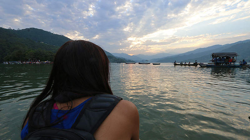 pokhara boat ride, phewa lake,