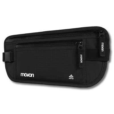movon Money Belt RFID-blocking Hidden Wallet
