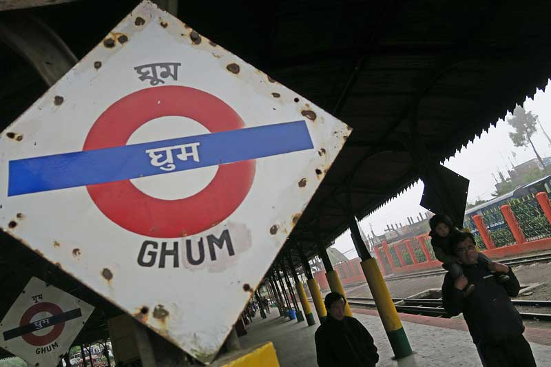 ghoom station, toy train Darjeeling