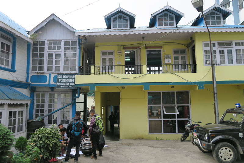 Foreigners Registration Office in Darjeeling