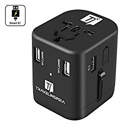travel inspira universal travel adapter, smartest travel adapter