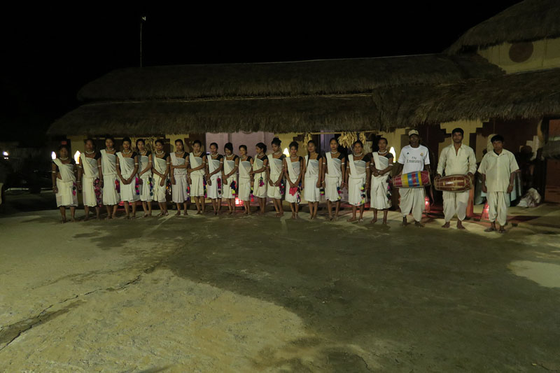Tharu village performance chitwan