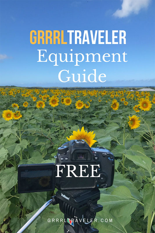 equipment gear guide, travel camera gear guide 2018
