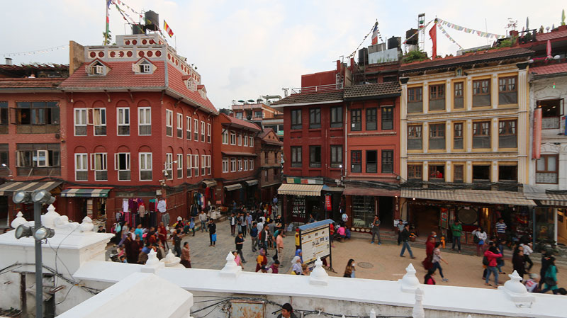 things to do boudha, View from Bodhanath Stupa