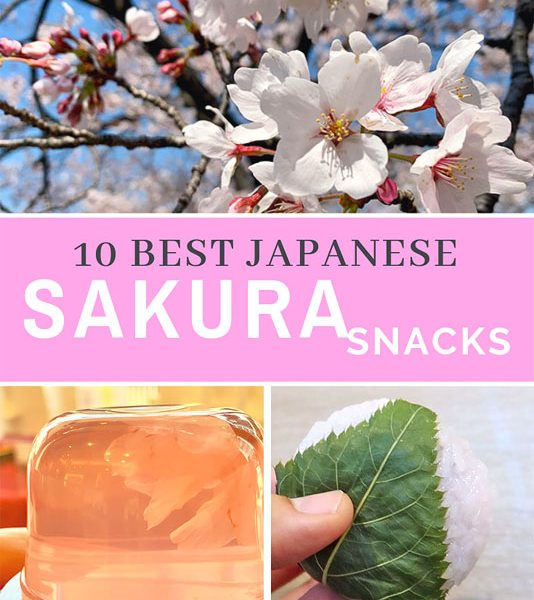 10 MUST TRY Japenese sweets for sakura season
