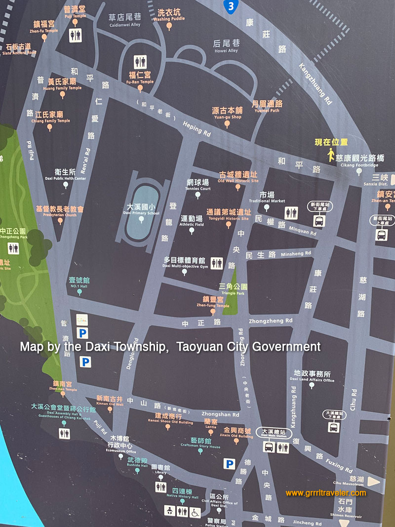 Daxi town map