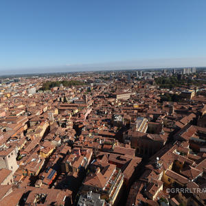 view from bologna asinelli tower