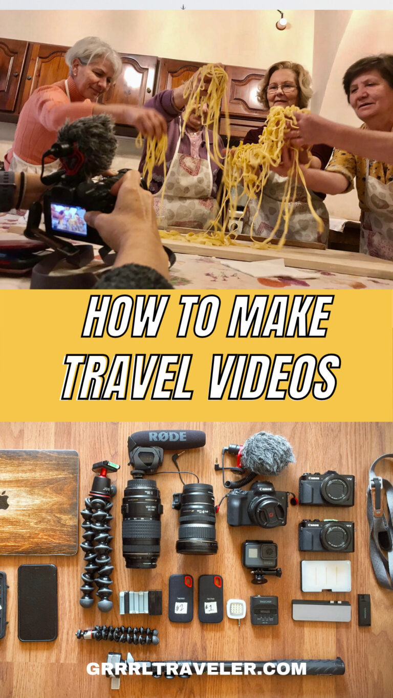 HOW TO MAKE TRAVEL VIDEOS (for Beginners