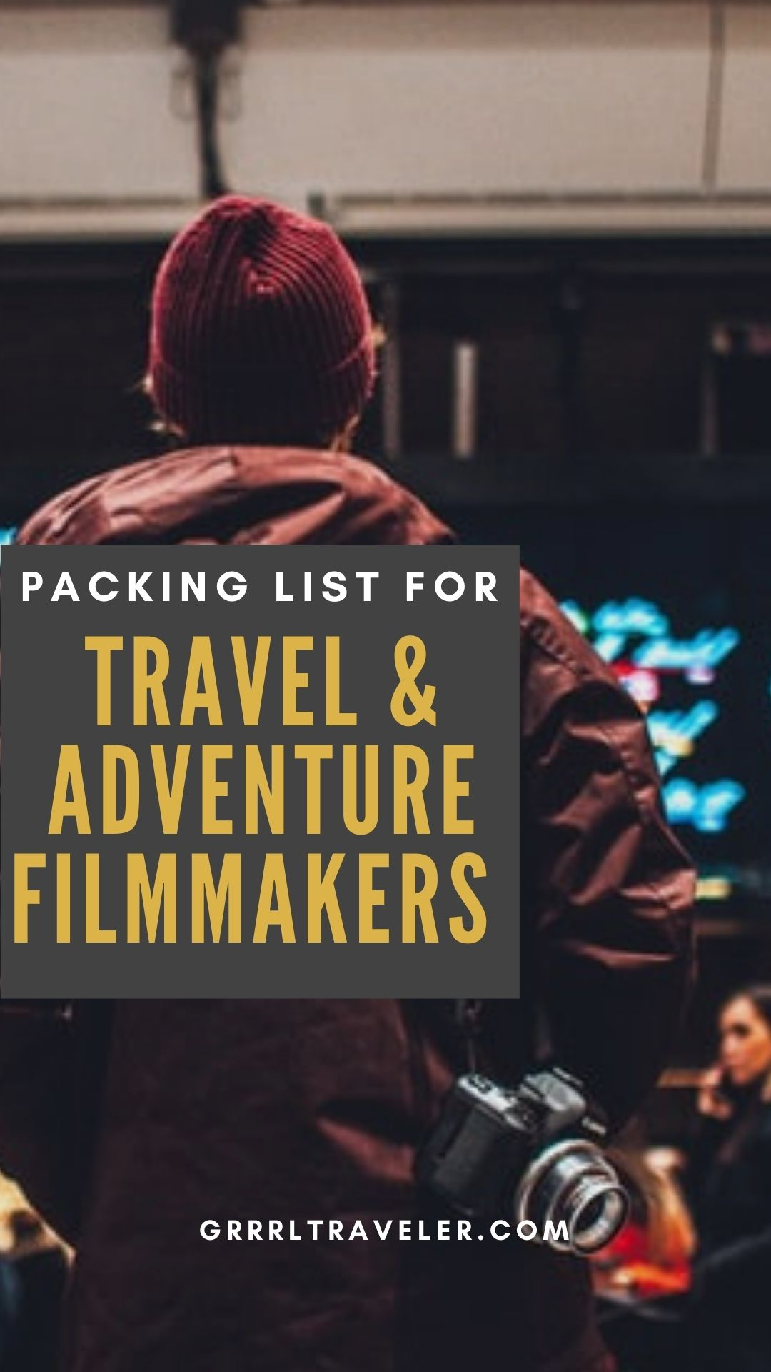 packing list for travel vloggers