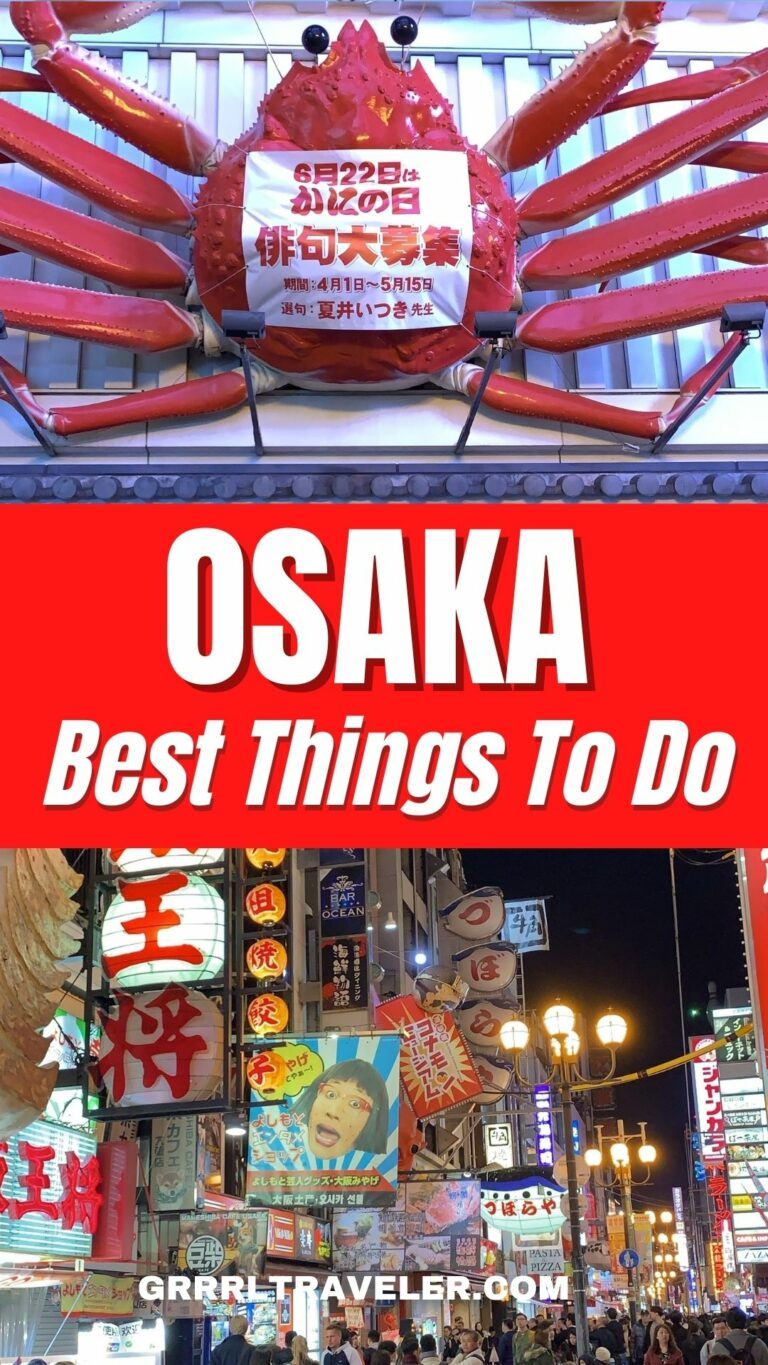 Things to know before going to osaka